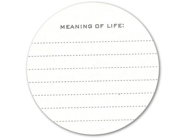 meaning of life drink coaster