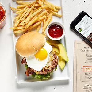 modern menu open