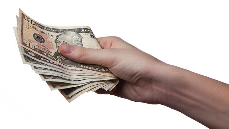 money cash hand wage