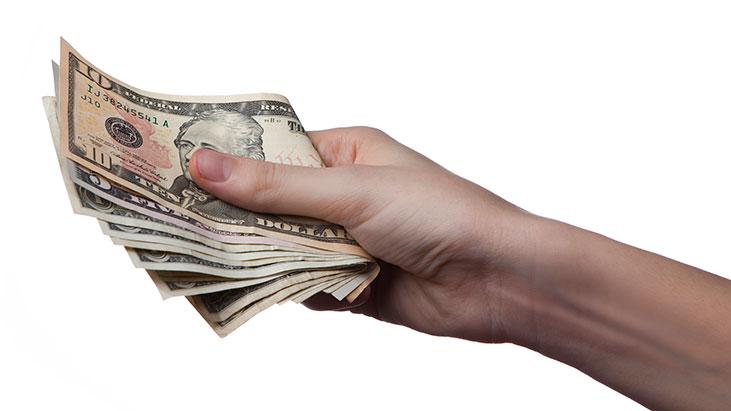 money hand cash wage