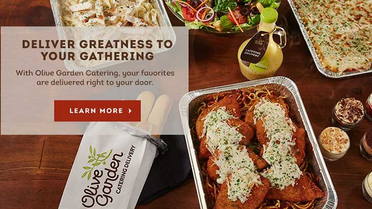 olive garden catering screenshot
