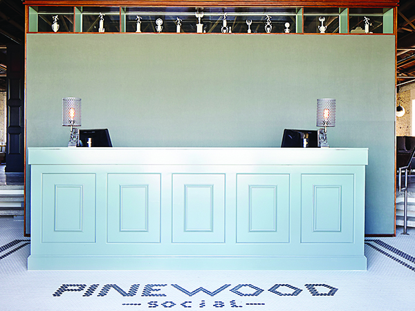 Pinewood Social reception desk