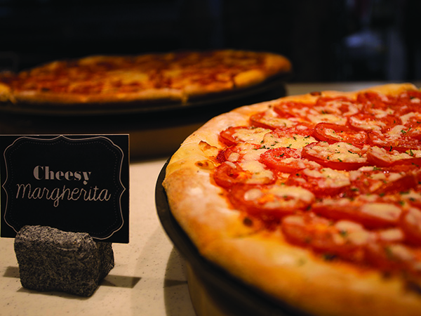 Pizza Hut slice bar cheesy margherita pizza