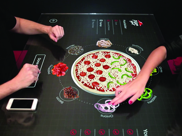 Pizza Hut touchscreen table