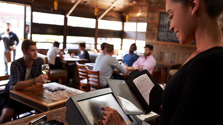 preparing bill restaurant POS system