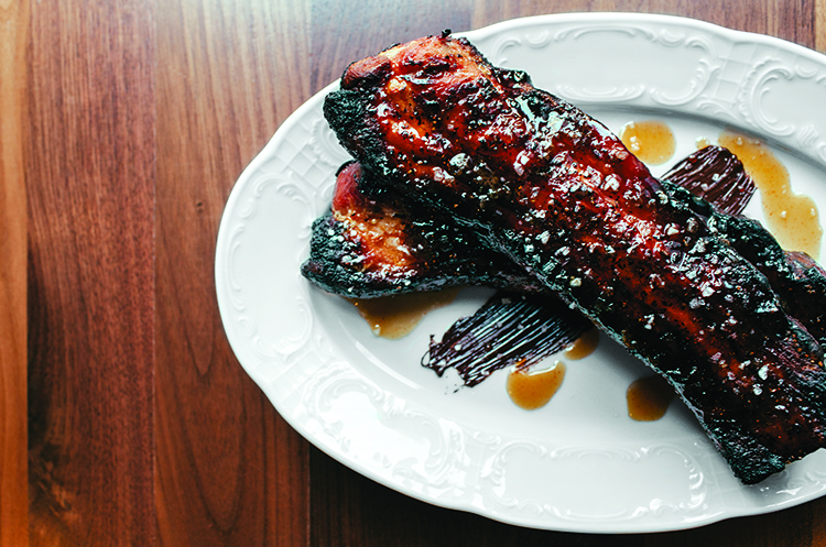 Thick-cut Bacon with Black Pepper and Dark Chocolate