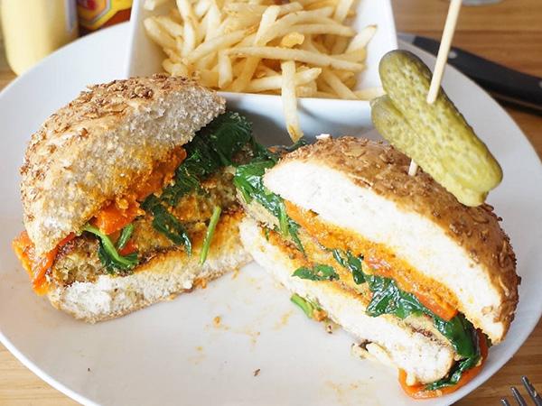 3 Square Café - Quinoa Burger
