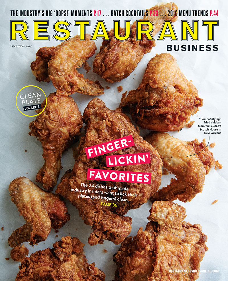 Restaurant Business Magazine December 2015 Issue
