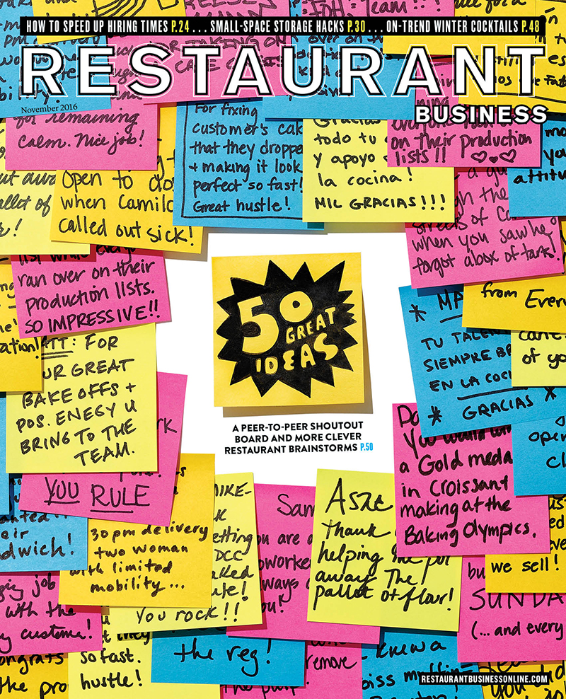 Restaurant Business Magazine November 2016 Issue