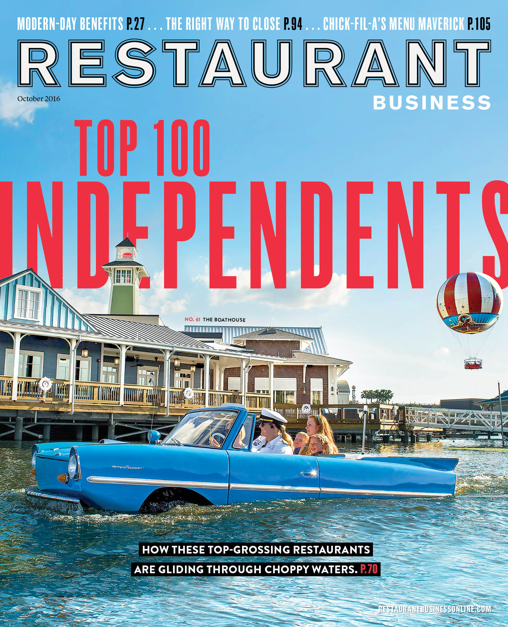 Restaurant Business Magazine October 2016 Issue