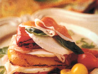 Prosciutto Di Parma and Roasted Red Pepper Napoleons