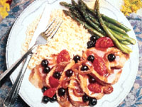 Blueberry Onion Sauced Pork Tenderloin