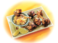 Caribbean Chicken Lollipops