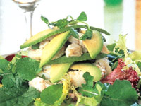 Crab and California Avocado Salad with Avocado Cream