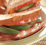 shrimp avocado blt