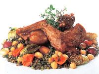 rabbit lentil