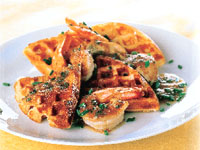 Savory Waffles with Bourbon Seafood