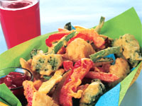 Tempura Chicken and Veggies
