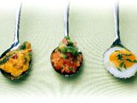 Asparagus Spoon Custards