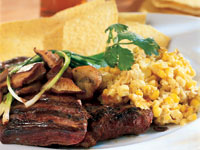 Ancho Steak with Roasted Corn Pudding