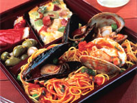 Shellfish Paella with Fideos