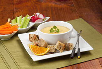 Florida Orange-Infused Wisconsin Cheddar and Beer Fondue