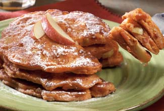 Bacon Apple Sweet Potato Pancakes