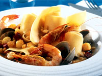 Papardelle with Shellfish and Saffron Broth