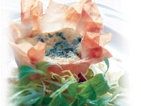 Gruyère and Gorgonzola Cheese Tart with Black Walnut & Apple Salad