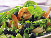 Blueberry-Shrimp-Edamame Salad with Lemon Vinaigrette
