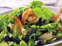 Blueberry-Shrimp-Edamame Salad with Lemon Vinaigrette