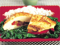Pepper-Stuffed Chicken Breasts