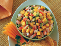 Mango, Avocado, and Shrimp Appetizer