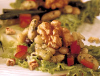 Three-Bean Salad with Walnut Pesto
