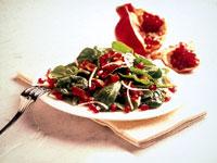 Pomegranate-Jeweled Spinach Salad