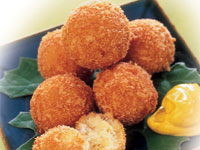 Salt Cod Balls with Saffron Aïoli