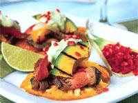 Avocado & Steak Arepas