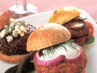 Mini Salmon Burger