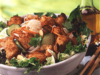 Crispy Turkey and Shrimp Salad