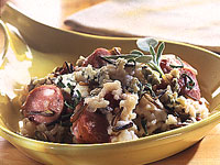 Black & White Risotto with Duck Sausage