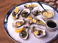 Wood-Roasted Oysters with Two Toppings