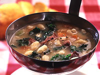 White Bean Soup with Ham Hocks and Greens