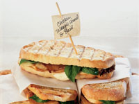 Chicken and Roasted Fennel Panini with Basil and Taleggio