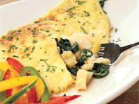 Bacalao and Spinach Omelet