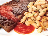 Bodega Steak with Pequillo Pepper Puree