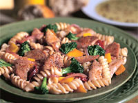 White Pekin Duckling and Pasta with Red Wine Sauce