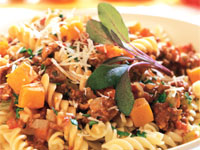 Pork Bolognese with Squash