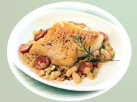 Portuguese-Style Cod with White Beans and Chorizo