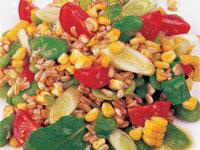 Salad of Sweet Corn, Peas, and Spelt