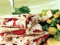 Crab Quesadillas with Avocado-Tomato Salsa